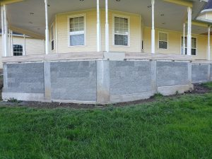 New porch with a cement surround photo